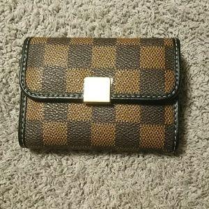 Handbags - Checkered RFID wallet
